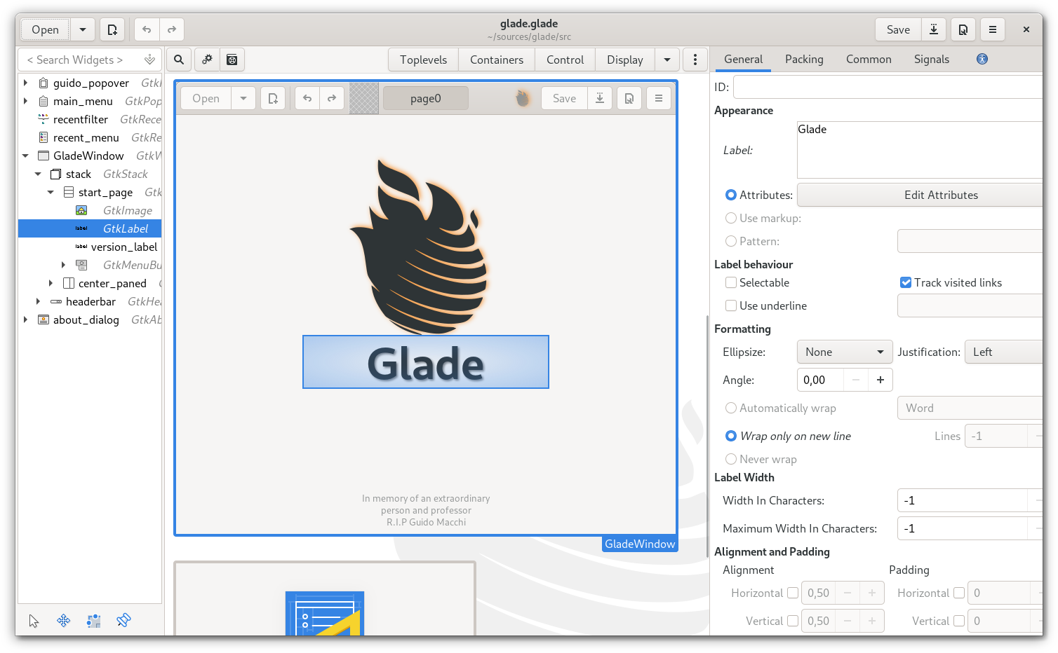 Glade - A User Interface Designer